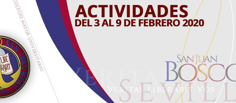 Actividades del 3 al 9 de febrero 2020