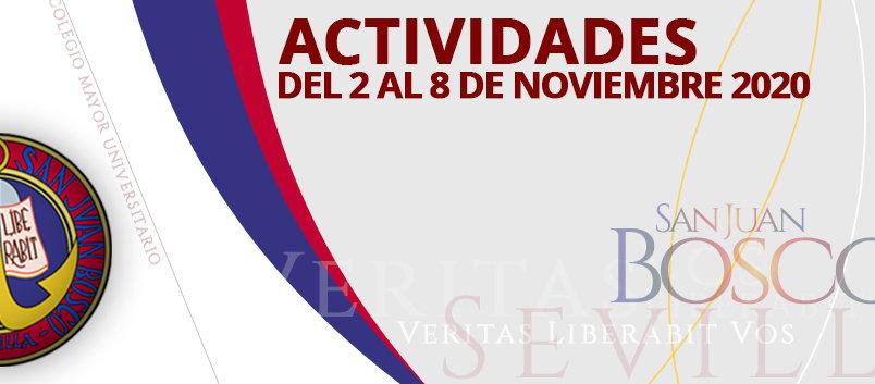 Actividades del 2 al 8 de noviembre