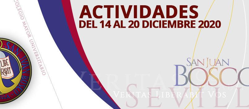 Actividades del 14 al 20 de diciembre