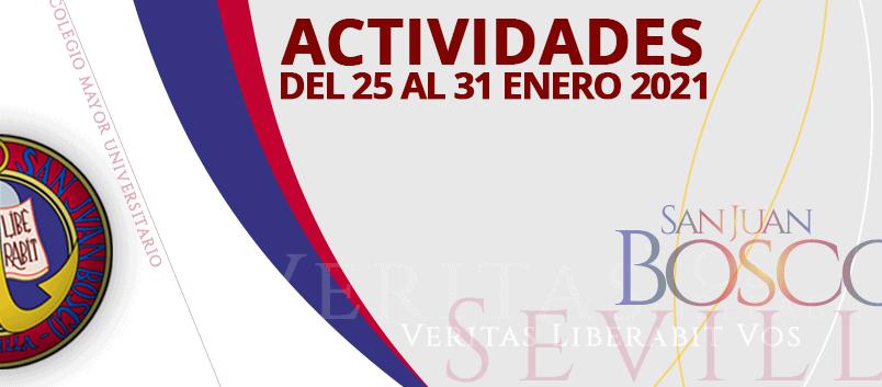 Actividades del 25 al 31 de enero 2021